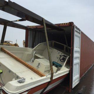 ボート輸出 バンニング作業 タイへ輸出